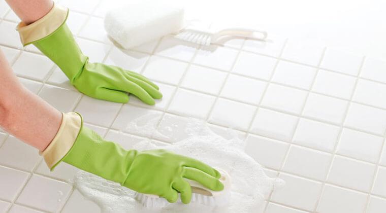 banyo zemini ve fayansı temizliği