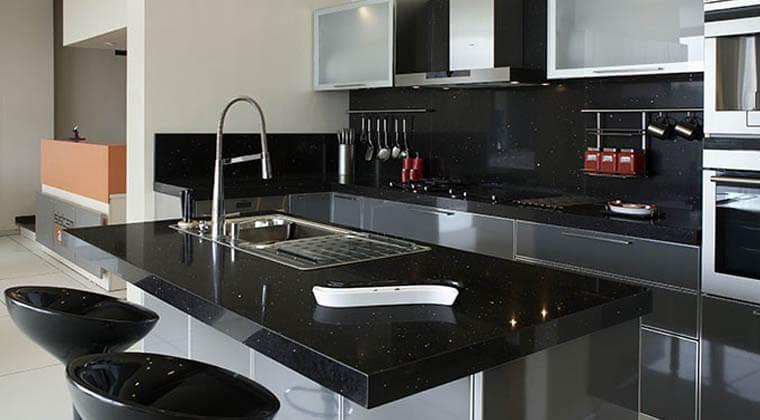 siyah granit mutfak tezgahı nasıl temizlenir