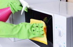 mikrodalga fırın temizliği için pratik öneriler